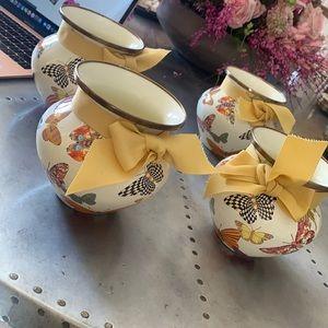 Mackenzie childs butterfly vase